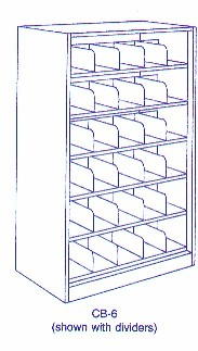 CB-6 steel compact shelving bookcase
