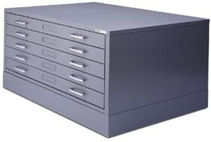 Map cabinets, plan file cabinets, flat file cabinets for storing ...